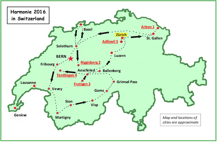 Map Swiss Trip 750x492