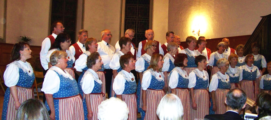 Swiss Harmonie Choir performs in the church of Frutigen