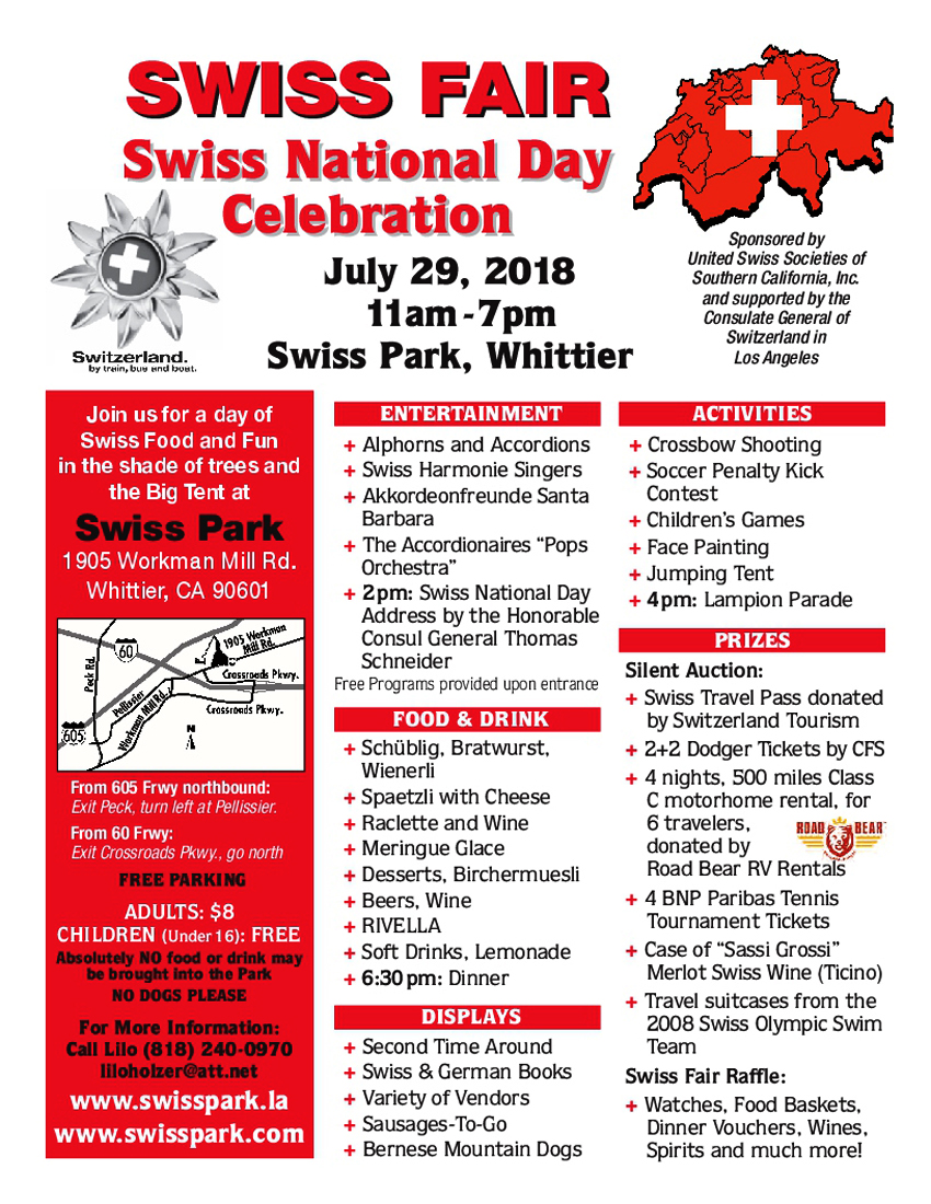 2018 Swiss Fair Flyer 850x1100
